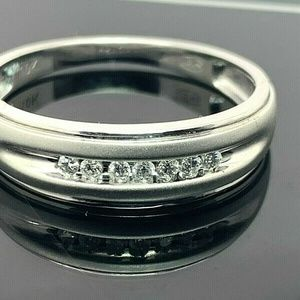 Wedding Band Diamonds 1/10 ctw 10k Ring SZ 9.75